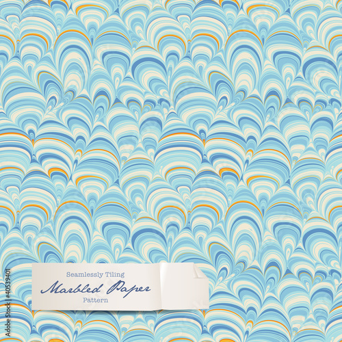 seamless marbled paper pattern