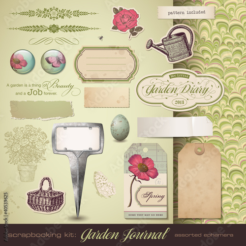 scrapbooking kit: Gardening
