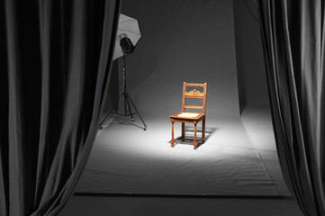 chair in a photostudio