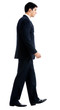 Full body of walking businessman, isolated
