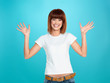 attractive woman smiling and waving