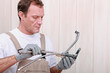 Man repairing a faucet