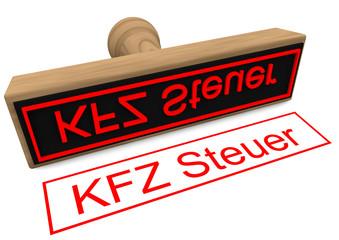 "Stempel ""KFZ Steuer"""