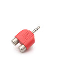 audio input & output plug with clipping path poster