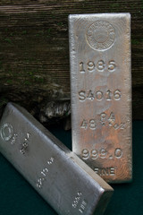 Large Homestake Mining Company Silver Bullion Bars