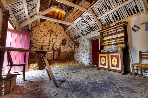 Old Irish cottage house interior