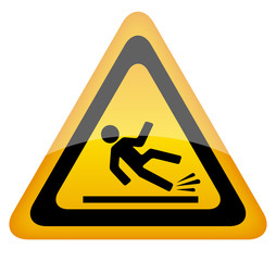 Vector wet floor sign