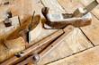 antichi utensili da falegname