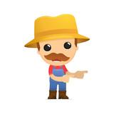 funny cartoon farmer