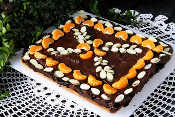"special decorated cake called ""Mazurek"" for easter"