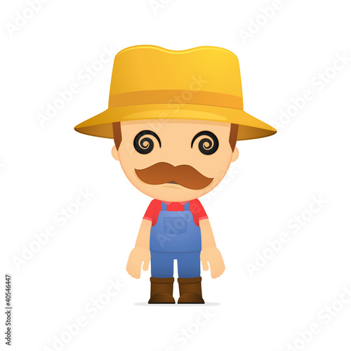 funny cartoon farmer