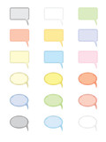 set of empty speech clouds vector illustration