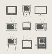 tv set icon new and vintage vector illustration