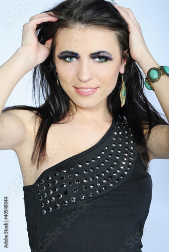 Beautiful stylish girl with additional lash