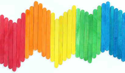 blank colorful wood ice-cream stick