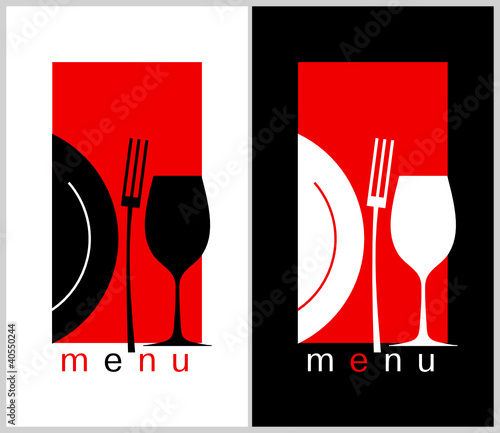 Restaurant Menu Card Design template. Long format