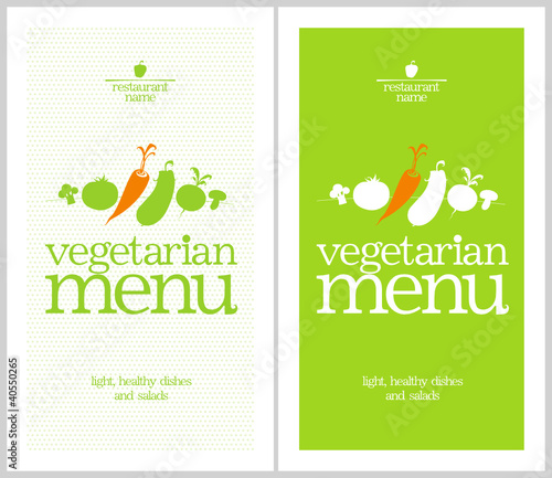 Restaurant Vegetarian Menu Card Design template