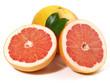 Grapefruit mit Blätter
