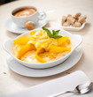 Semolina porridge with mango