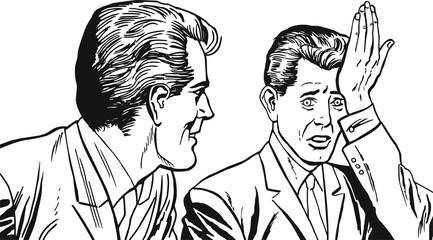 Ilustracion de dos hombre de negocios
