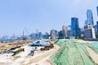 Huge construction site in Hong Kong