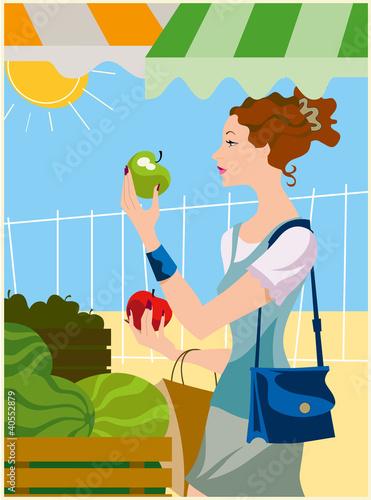 roberta compra frutta