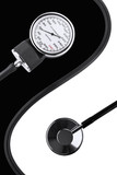Sphygmomanometer and stethoscope balance