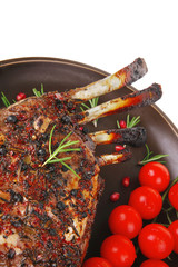 grilled ribs with cherry
