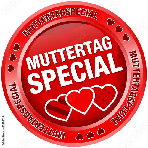 Button Muttertagspecial Herzen rot