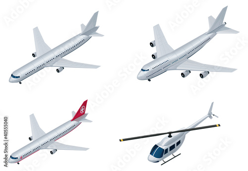 Vector isometric airplanes