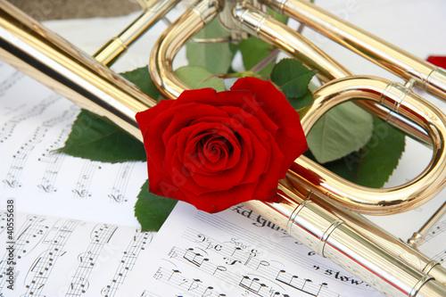 rote Rose und Posaune1