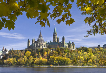 Parliament in Fall