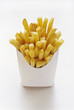 French Fries in White Fast Food Box