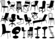 Illustration of chairs set