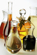 Various types of oil and balsamic vinegar