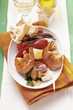 Plate of appetisers with assorted tapas