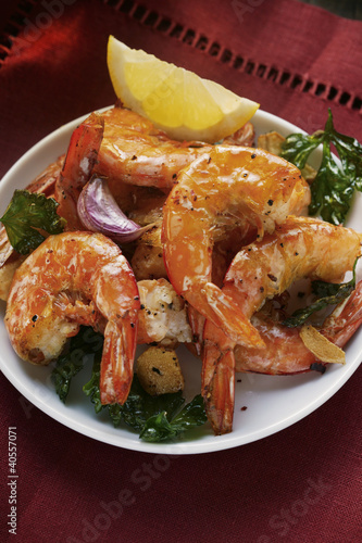Barbecued shrimps