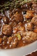 Venison ragout with thyme (close-up)