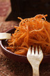 Raw carrot salad with sesame from North Africa