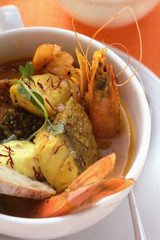 Bouillabaisse with saffron