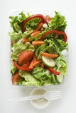 Salad leaves with vegetables & sour cream dressing to take away
