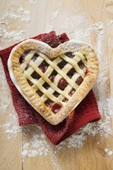 Freshly-baked cherry pie