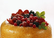Savarin with assorted berries