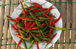 A plate of Thai chili peppers