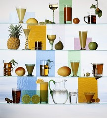 A selection of non-alcoholic cocktails