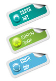 Earth Day stickers poster