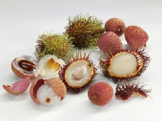 Rambutans and lychees