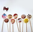 Home-made lollipop biscuits