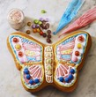 Colourful butterfly cake