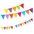 "Festoons Triangle ""Happy Birthday"" Colour"